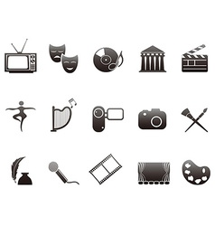 culture and art icons set vector image