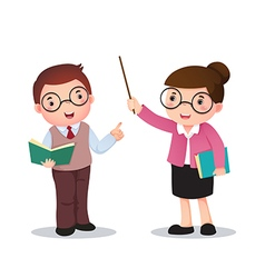Profession costume of teacher for kids vector image vector image