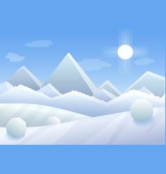 simple cartoon of winter vector image vector image