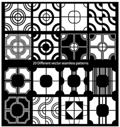 20 seamless patterns vector image vector image