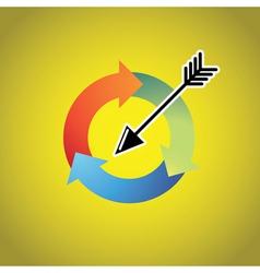 Arrow Cycle vector image vector image