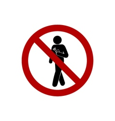 No Using Smartphone While Walking vector image