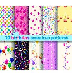 pattern birthday vector image vector image
