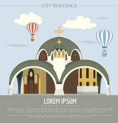 City buildings graphic template Macedonia vector image vector image