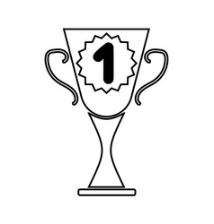 cup winner sign mono 2703 vector image vector image
