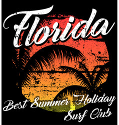florida - concept in vintage graphic style for vector image vector image