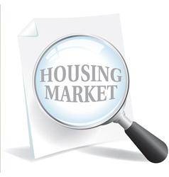 Housing Market vector image vector image