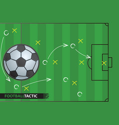 soccer game strategy plan football background vector image vector image