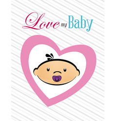 baby shower design over white background vector image