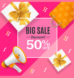 big sale banner card or poster vector image vector image
