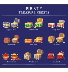 Chest set for game interface vector