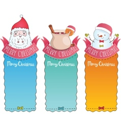 Christmas cards with Santa Claus vector image vector image