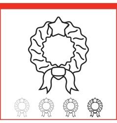 Christmas icon - wreath vector image