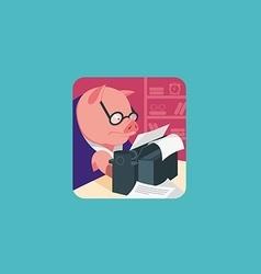 Creative development icon Pig wearing glasses vector image