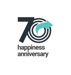 70 years happiness anniversary template design vector