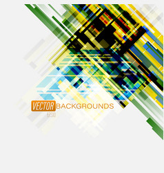 Abstract geometric colorful on a gray scene vector
