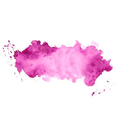 Abstract purple watercolor stain texture vector