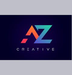 Az logo letter design with modern creative vector