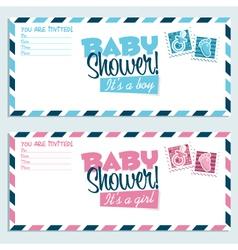 Bashower invitation vector