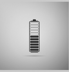 battery charge level indicator icon isolated vector image