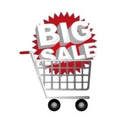 Big sale letters image vector