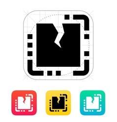 Broken CPU icon vector image