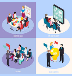 Business coaching isometric design concept vector