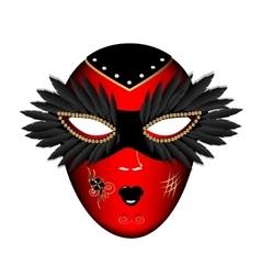 Carnival red black mask vector