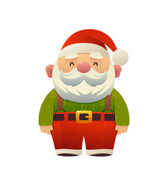 cartoon cute santa claus holiday character vector image