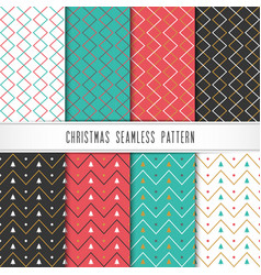 christmas and happy new year pattern set seamless vector image