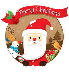 Christmas Circle Banner And Decoration vector
