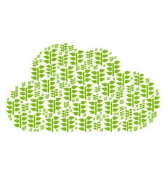 cloud collage of flora plant icons vector image