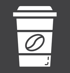 Coffee glyph icon food and drink cappuccino sign vector