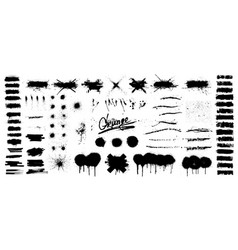 collection black paint paint splatter vector image