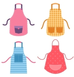 Colorful apron set vector