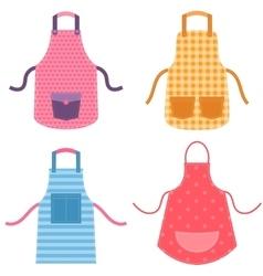 Colorful apron set vector