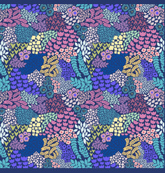 Colorful floral seamless pattern background vector