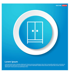 cupboard wardrobe icon abstract blue web sticker vector image