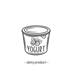 Dairy product yogurt icon vector