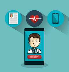 Digital healthcare technology icon vector