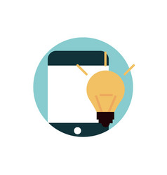 digital marketing smartphone creativity idea vector image