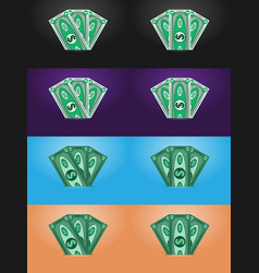 Dollars abstract banknotes money vector