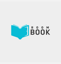 door education book library logo template icon vector image