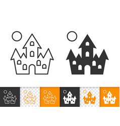 Dracula house simple black line icon vector