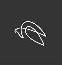 eagle falcon bird logo icon vector image