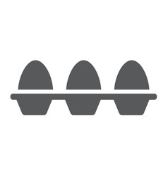 eggs in carton package glyph icon farming vector image