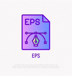 eps file format thin line icon modern vector image