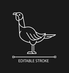 Female turkey linear icon for dark theme vector