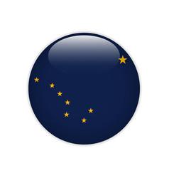Flag alaska button vector