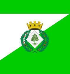 Flag of lloret de mar in spain vector
